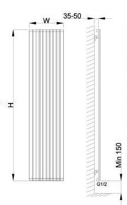 ابعاد رادیاتور لوکس استیل دیما رادیاتور مدل A