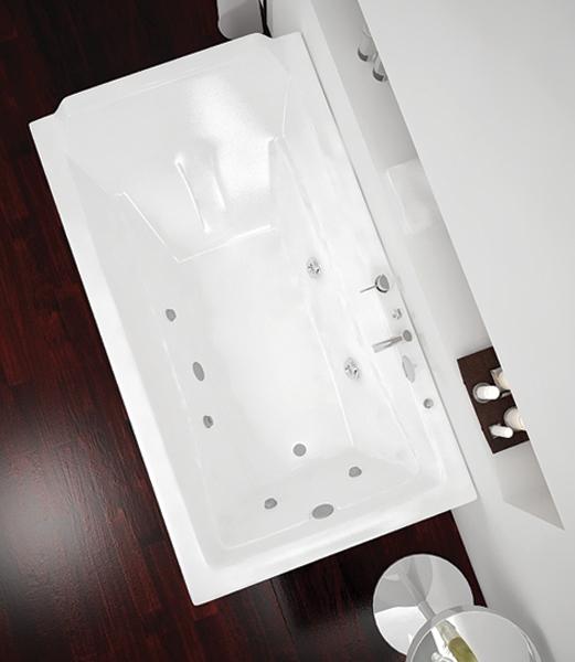 نمای بالای وان جکوزی یک نفره ویستا مدل زیبا آب درمانی