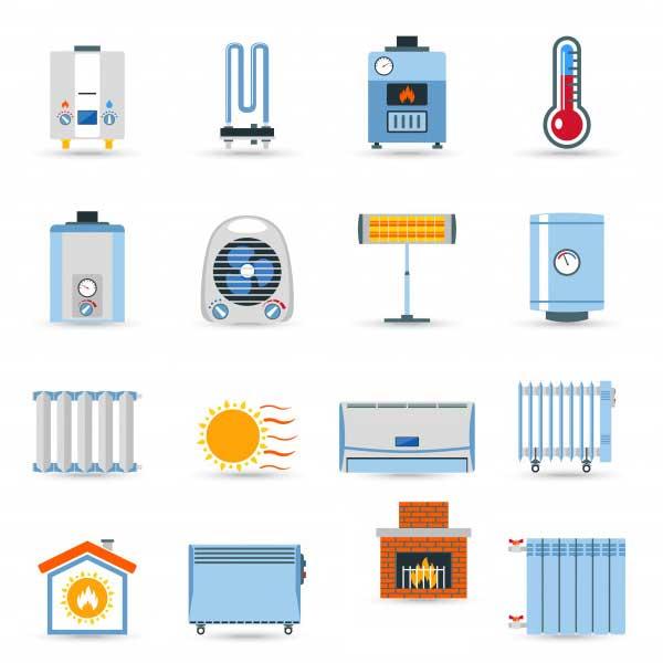وسایل گرمایشی بخاری گازی برقی پکیج