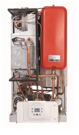 نمونه محل قرار گیری منبع انبساط فلت 10 لیتری در پکیج دیواری مخزندار